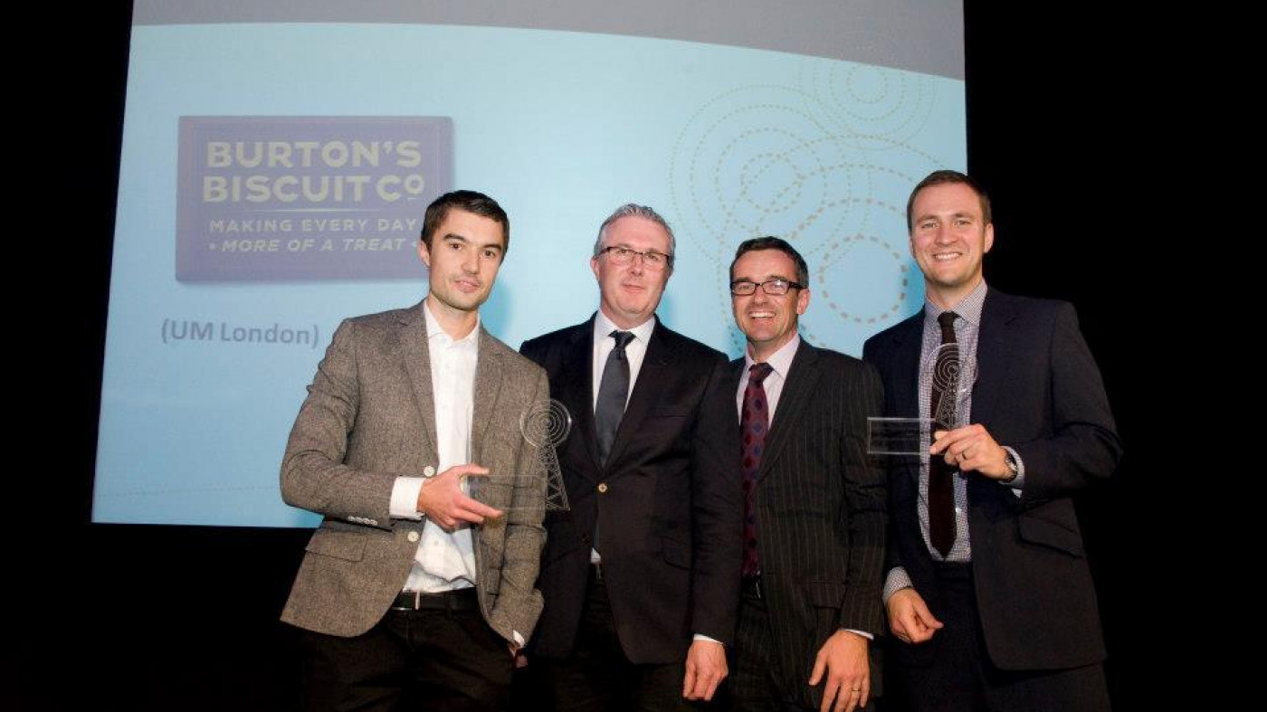 Endpoint present award at the Digital Impact Awards 2012