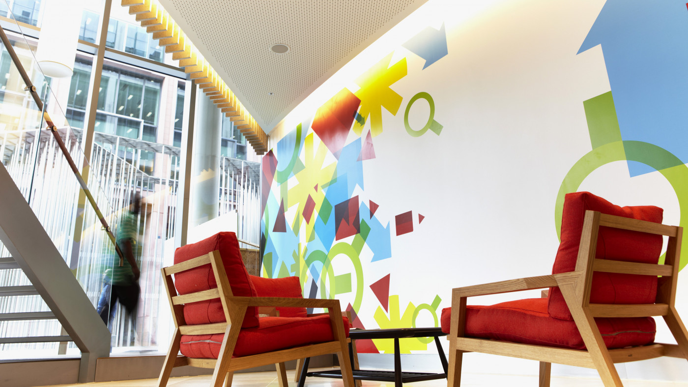 Different personalities: one unified workplace brand through environmental graphics