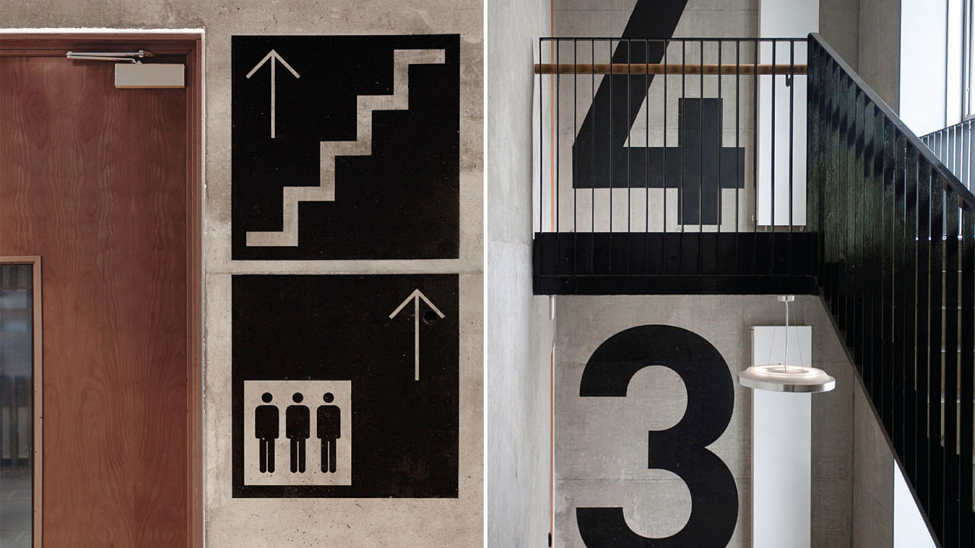 Architecturally integrated sign design